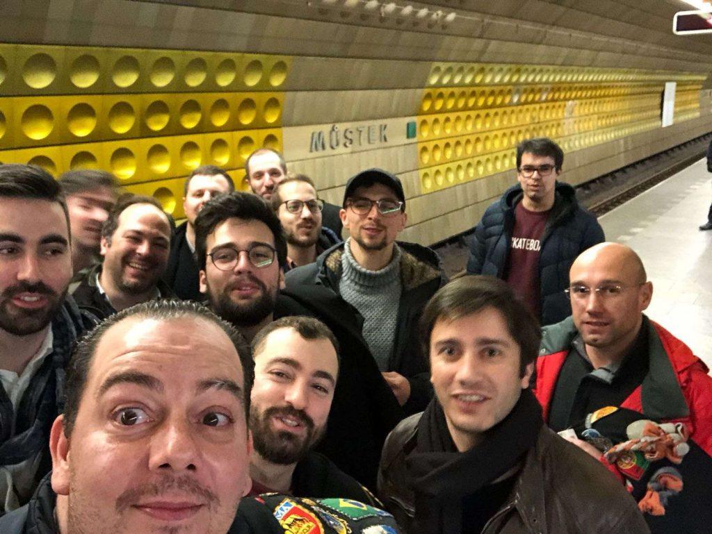 A Partituna no metro de Praga a despedir-se da cidade